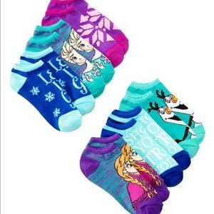 Disney Girl FROZEN socks 6-pair, size 6-8.5